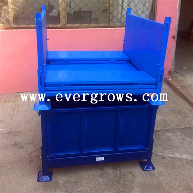 Chinese Imports Wholesale High Quality Transport Metal Material Bin With Lid Alibaba China