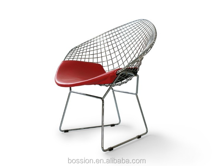 Bertoia small diamond <strong>chair</strong> with seat cushion for hotel