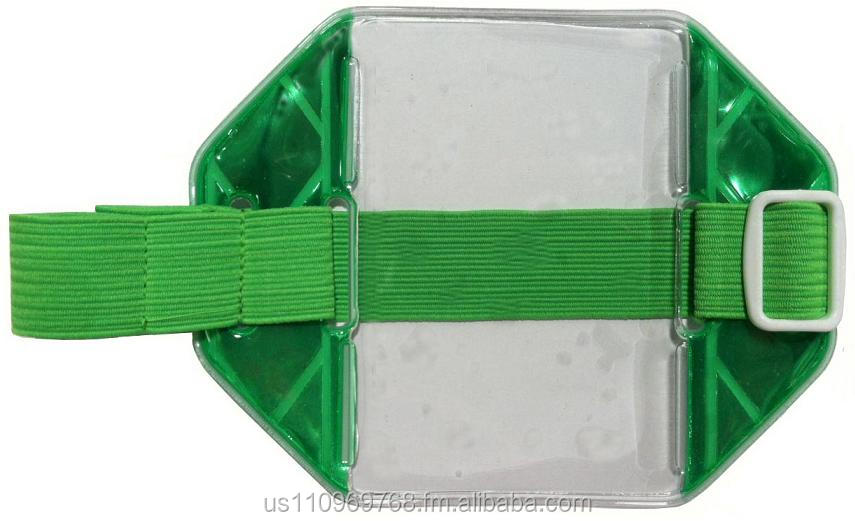Reflective Green Armband ID Holder