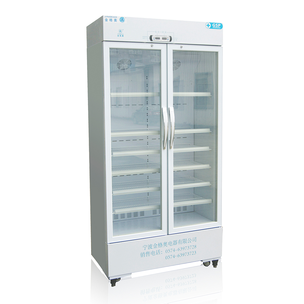 JGA Ce Commercial Electric Freestanding Auto Defrost Big Display Glass Chest Freezer Used Double Door Refrigerator With Wheels