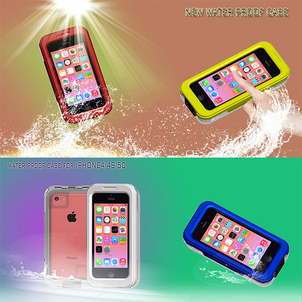 For iPhone 5c 4 4s High Quality Hot Waterproof Case Cover