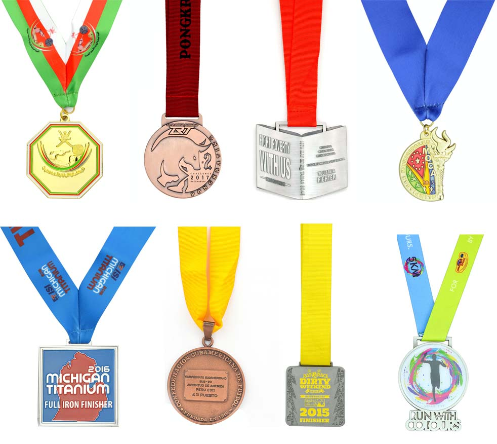 Metal Plated Engraved Custom Logo Gold Medals No Minimum Order