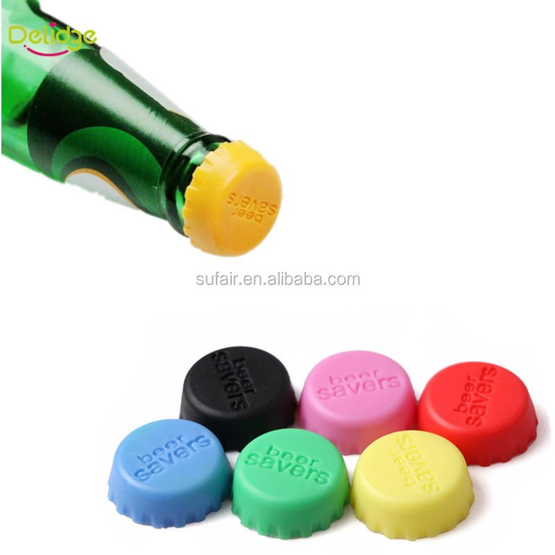 Silicone custom flat Wine champagne twist off beer Bottle caps