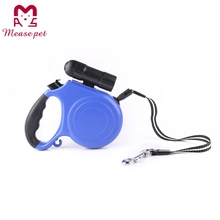 Retractable dog leash with LED light