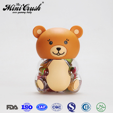 Bear shaped candy jar for lychee fruit jelly nata de coco