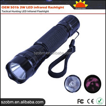 Wholesale OEM 501b 3W LED infrared flashlight Torch,Tactical Hunting LED Infrared Flashlight