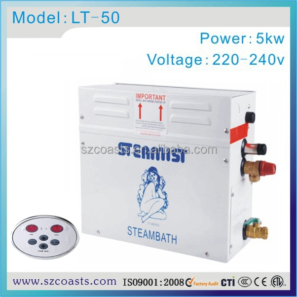 Hamman function 5kw220v steam generator for steam room