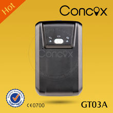 Portable GPS tracker GT03A with large capacity internal battery for long working, travel gps tracker for the Donkey Friend