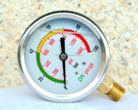 "Stainless steel oil liquid filled pressure gauge 2.5"" 4"""