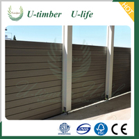 Cheap garden WPC Wood Plastic Composite fence wall