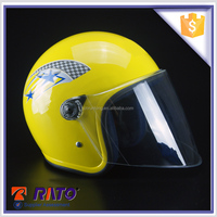 Custom design branded yellow full-face scooter helmets