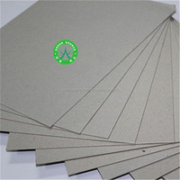 grey paper thickness available good price clay coated C1S paper grey board