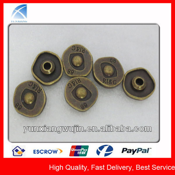 YX1548 Fashion Metal Antique Brass Decorative Studs for Jeans