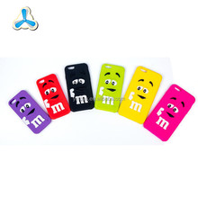 Custom logo color filled silicone 3d cartoon phone case