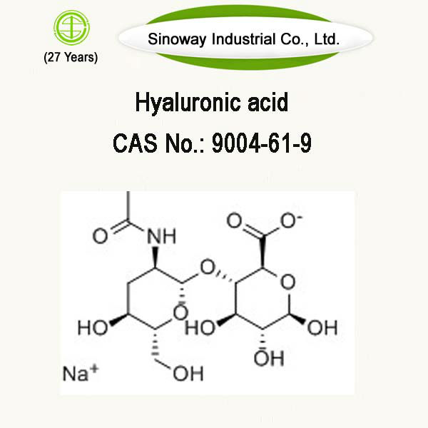 Hyaluronate Acid with CAS Number 9004-61-9, Factory supply