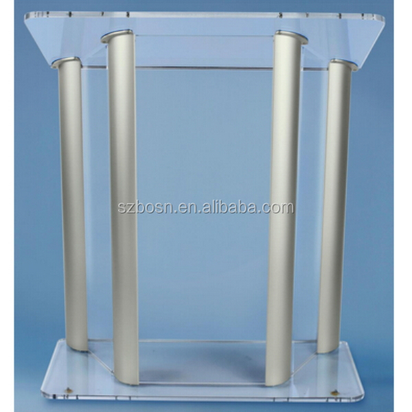 Acrylic Podium/Pulpit Lectern With Aluminum