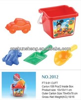 Funny Beach Toys Plastic Square Beach Buckets And Spades toy