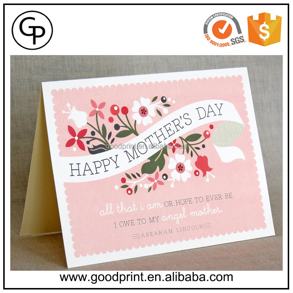 Personalized Romantic Fashionable Happy Mother /Children/Wedding Days Greeting Card