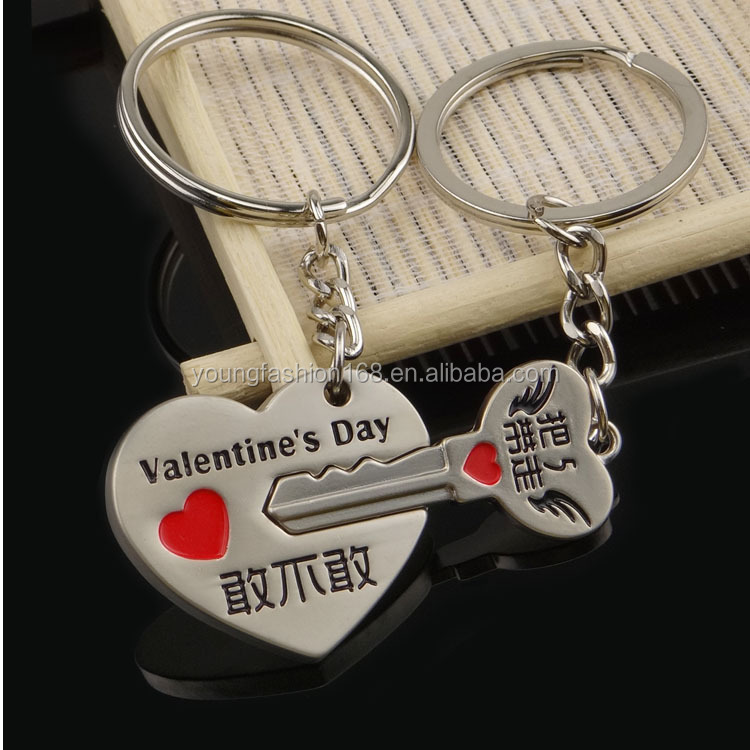 heart with words couple key ring couple key holder for 2017 valentine's day