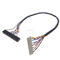 Dupont 40pin -2.0mm to Hirose DF14-20S-1.25C lvds cable with Round cable UL20274 28AWG