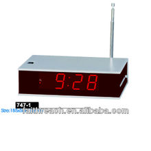 Portable digital led clock radio