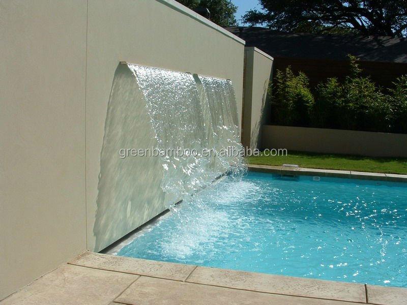 Piscine piscine acrylique lame d 39 eau feuille descente for Piscine acrylique
