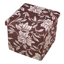 Large Eco-friendly Non Woven Folding Storage Sundries Ottoman Foot Stool