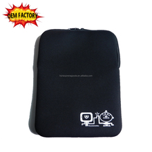 special stitching neoprene bag 10 inch pc tablet cover with zipper