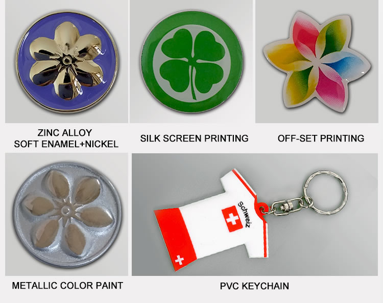 Bespoke flag shape stainless screen printing lapel pin