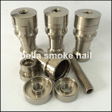 wholesale 14mm&18mm infinity titanium nail, universal domeless titanium nail,fit for flat heating coil