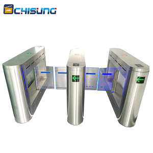 Automatic Barcode Reader Swing Barrier Gate For Gateway Guard