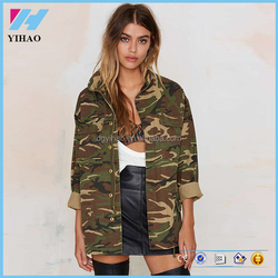 Apparel clothing winter flight women's army coat clothes camo jacket woman