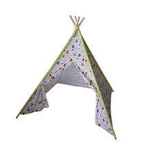 Kids indoor teepee tipi indian tent cotton canvas camping
