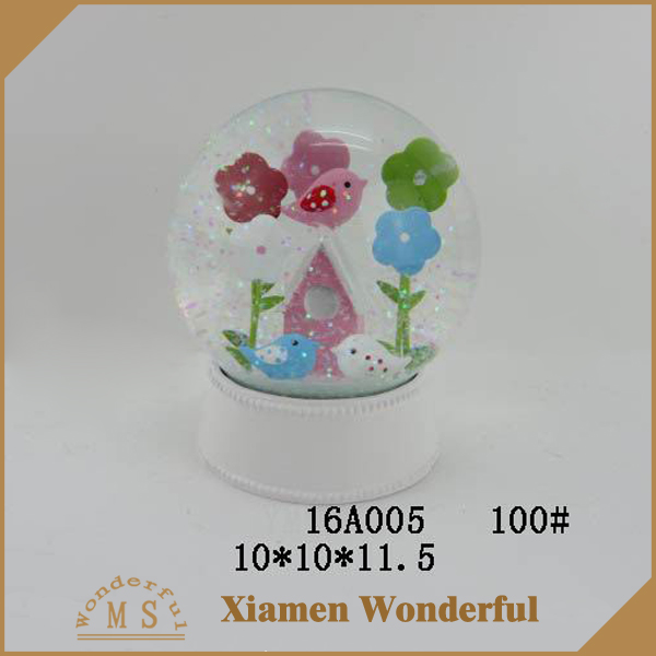 low price resin easter snow globes souvenir