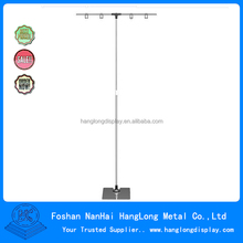 Metal materials rotating art display stand T-shape pop display stand