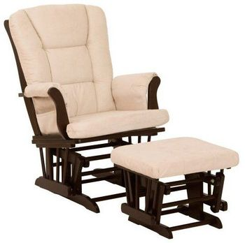 No.2246 wooden glider rocking chair and ottoman set for nursery furniture
