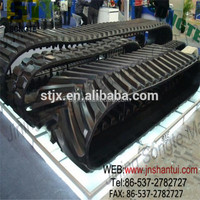 construction machinery spare parts supplier rubber track for pc28uu excavator
