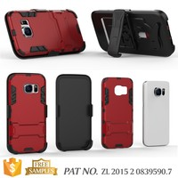 Factory kickstand belt clip holster combo case for samsung galaxy s7