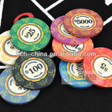Venerati Ceramic Poker Chips Wholesale Price Size 39x3mm Sand Grain Surface