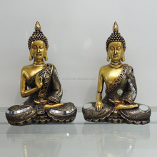 Golden color thailand design buddha murti for home decoration