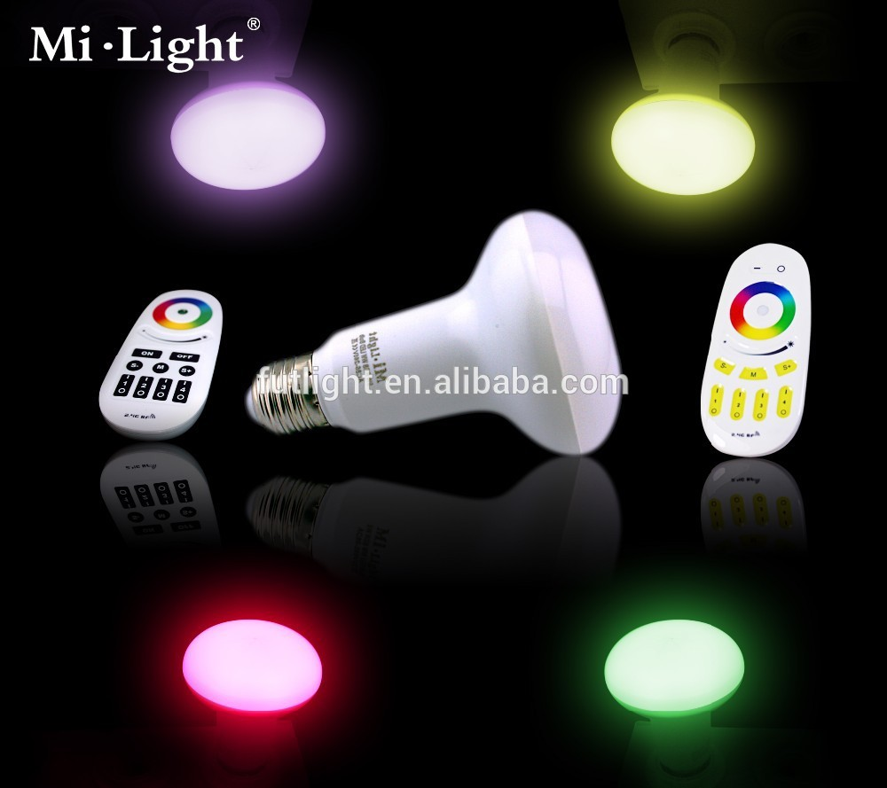 9W par30 RGBW wireless remote controller light bulb wifi e27 led bulb with 2.4G RF 4 zone remote control