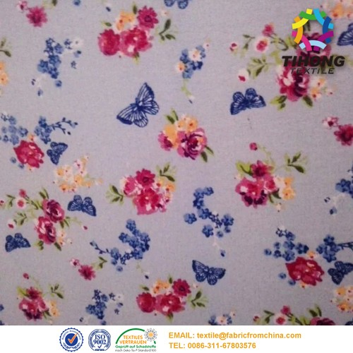 150gsm weaving plain baby prints flannel fabric for baby bedding