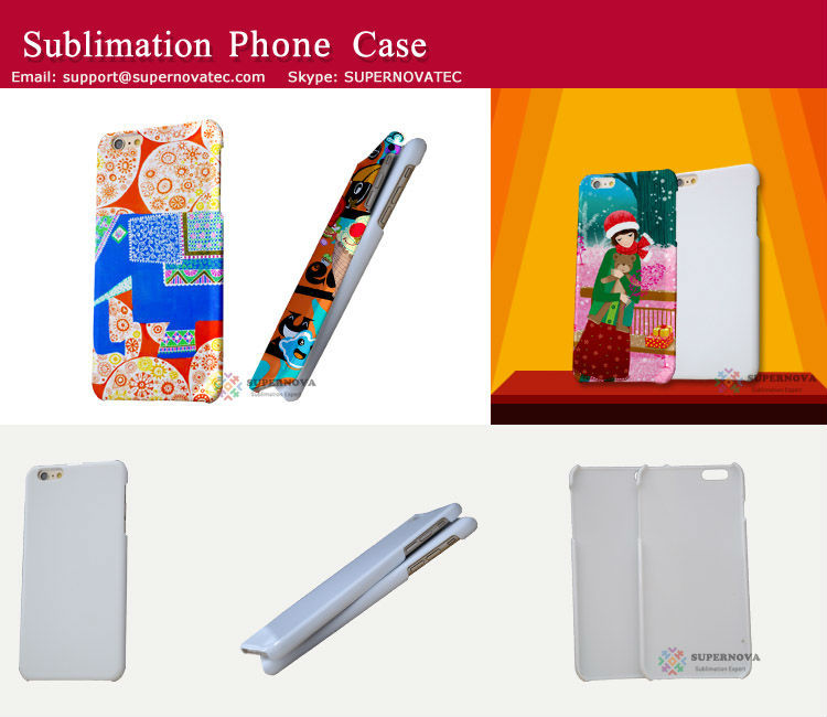 3D Sublimation Blank Mobile Phone Case for iPhone 6 Plus, 5.5inch