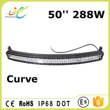 Manufacturer Cheap price double row 3W Cree 50inch Curved LED bar light off road LED light bar