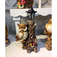 Owl animal design garden lights with solar powered