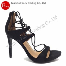 Hot Sale Latest Designs Latest Fashion Women Sandals Lace Up Heels