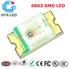 GYX Factory price Epistar/sanan chip ice blue yellow green blue 0805 0603 smd 1608 led