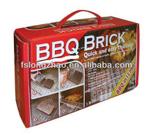 With colored box Portable BBQ Charcoal barbecue charcoal charcoal Brick