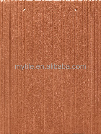 Iron red light weight flat clay roof tiles