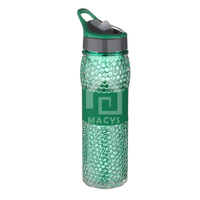 550ml double wall water bottle straw sports,grip in the middle